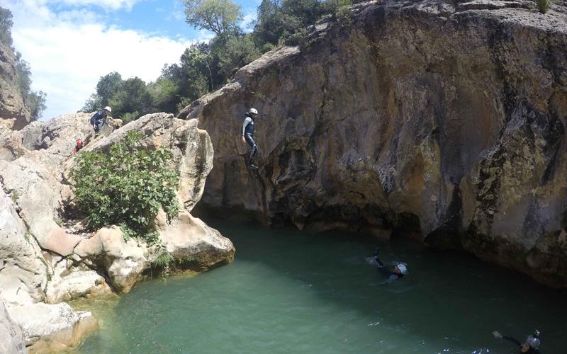 Barranquismo en La Peonera