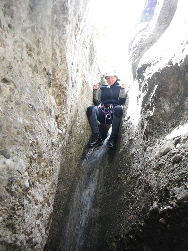 descenso de barranco fondo con guaranatura